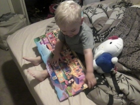 Reading with Hello Kitty!