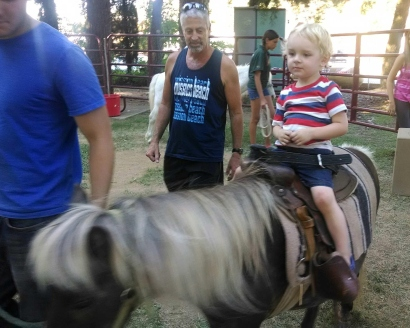 Ridin' the pony!