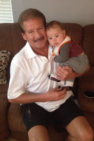 Rowen with Grandpa (Bruce, Dan's dad)